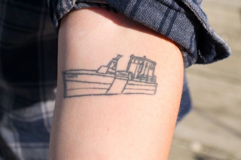 JENN-HALL-Photos-Bridgitte-Maxwell-Tattoo-of-Boat-Named-for-her-Great-Grandfather